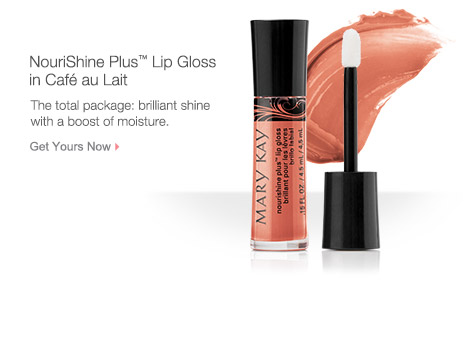 Get your NouriShine Plus™ Lip Gloss in Café au Lait from Mary Kay.